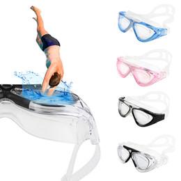 Pc hd en Ligne-Nouveau professionnel anti UV lunettes de natation 4 couleurs Équipement de plongée imperméable HD lunettes de plongée DHL libre