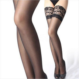 2017 jambes sexy bas Grossiste-Femmes chauds sexy bas stocker les femmes Les cuisses haute bas la jambe montrer mince dentelle sexy Nightclubs Pantyhose jambes sexy bas sur la vente