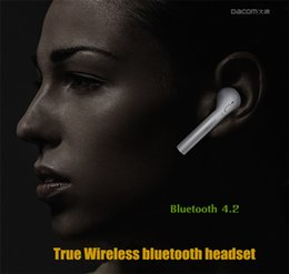 High Quality DACOM TWS 7S Bluetooth 4.2 Sports Mini Headset Wireless Twins Earphones Headphone For Iphone 7 plus 6S 5SE Samsung Galaxy S6 S7