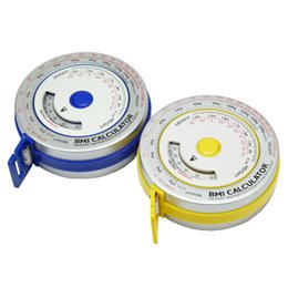 Wholesale Aluminum BMI measure tape Bmi Calculator Health Tape Measure for Promotion Gift body Mass Index with Retractable tape