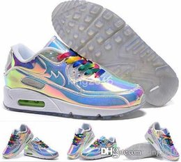 Wholesale 2016 Cheap Max Women Mens Running Shoes Rainbow Color High Quality Lightweight Sport Shoes Trainers Outdoor Sneakers Airmax Eur