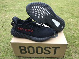 Wholesale 2017 AD YEEZYSS BOOST V2 BLACK RED BRED CP9652 amp KANYE WEST v2 CORE BLACK RED Come With Original Box