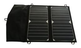 14Watt Highest Efficiency SUNPOWER Solar Cell Panel Folding Portable Solar Charger for iPhone Samsung LG Xiaomi iPad Power Bank