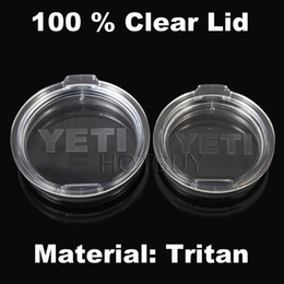 Wholesale 50X Tritan Clear Yeti Cup Lid Proof Lid Yeti oz oz Tumbler Cup Replacement Resistant Proof Cover Lid With YETI LOGO