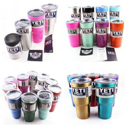 Wholesale YETI Mugs oz Cups Pink Blue Stainless Steel Yeti Rambler Tumbler Travel Vehicle Beer Mug Tumblerful Bilayer Vacuum Insulated