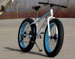 Wholesale 20 inch speed beach cross country snow mountain bike sun change gear Ultra wide tire double disc brake tb40911