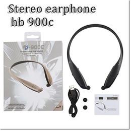 Promotion mains libres universel HB900C sans fil Bluetooth oreillette sport mains libres stéréo musique écouteurs bluetooth pour iPhone Samsung Sony Xiaomi