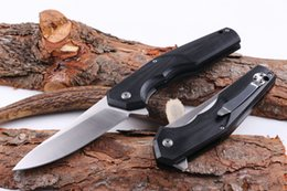 Wholesale Bear Head F95 Worm Folding Pocket Knife Ball bearing flipper EDC OEM CR15 Brushed Blade Tactical Camping Hunting Utility knives Belt Clip