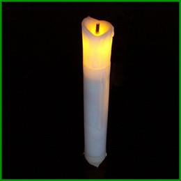 Wholesale No Handmade Yellow High Candle light on Sale Lámpara de cristal de la vela alta del LED para la decoración casera al por mayor