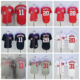 2017 gros national Vente en gros Washington Nationals Baseball 11 Ryan Zimmerman 20 Daniel Murphy Jerseys Mens 28 Jayson Werth 31 Max Scherzer Jerseys gros national à vendre