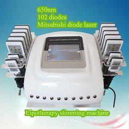 Wholesale Lipo laser machine home use best fat burning machine laser liposuction machines nm pads paypal beauty machine