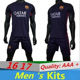 Wholesale Barcelona Away Kit NEYMAR JR MESSI SUAREZ A INIESTA Quality AAA