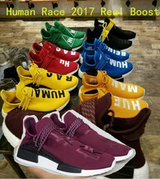 Wholesale Friends and Family Human Race Factory Real Boost NMD Runner Pharrell Williams X Running Shoes Men Women Shoes Freeshipping Size