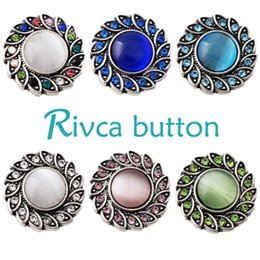 Rivca Hot Wholesale Newest Design Ginger Snap Button Bracelet NOOSA Chunks Leather Bracelets For Women Fit 18mm Rivca Snap Jewelry D02217