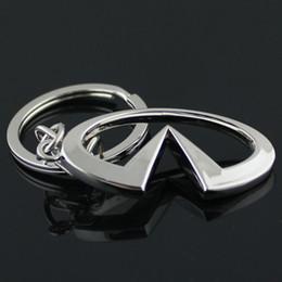 Infiniti porte-clés en Ligne-Pièces auto 3D série creuse mini Métal 3D série creuse Porte-clés porte-clés du logo mini voiture pour Infiniti q50 qx50 qx30 qx70 voiture styling