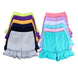 Wholesale baby girls icing stripe ruffle shorts kids cotton icing ruffle shorts children boutique stripe shorts