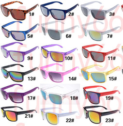 Gafas de sol de color rosa en Línea-Los vidrios de montar a caballo de los nuevos woMen del VERANO 10pcs que conducen las gafas de sol del deporte del hombre del goggle bike la calidad rosada de cristal del color AAA del ENVÍO LIBRE