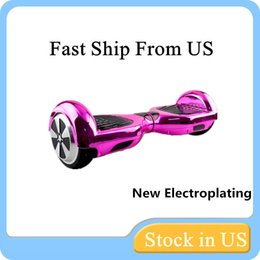 US Stock New Chrome Scooter Electroplating Colors Smart Self Balancing Electric Scooter Electroplated Electric Skateboard Fast Ship
