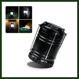 Wholesale Ultra Bright LED Collapsible Portable Outdoor Water Resistant Camping Fishing Hiking Hunting Lantern Flashlights Omni Directional Design