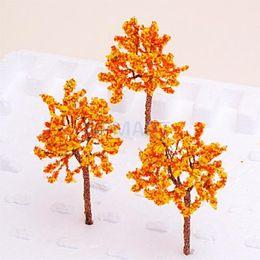 Цветковые деревья для продажи-свободная перевозка груза Модельные поезда Орандж цветков установили ландшафт пейзажа OO HO - 10PCS