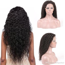 Human Hair Products Kinky Curly Brazilian Hair Natural Color 6~24inch 130% Density Glueless Full Lace Wigs No Shedding Synthetic