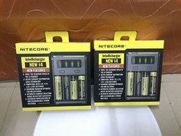 1pcs New i4 nitecore intelligent EU US plug battery charger for 18650 16340 18500 1.2V 3.7V 4.2V universal Intellicharger