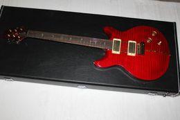 El envío libre personalizó la aduana 22, tapa roja de la llama del tigre, guitarra eléctrica, acepta OEM desde guitarras llama roja proveedores