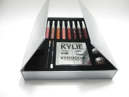 Wholesale New Arrived Newest Kylie Holiday Big Box Collection Kit Matte Kylie Jenner Liquid Lipgloss Collection Set For Christmas Gift XL free ship