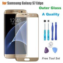 2017 качество панели Оригинальное внешнее стекло сенсорной панели качества для Samsung Galaxy S7 Edge G935F G935 Экран для замены стекла переднего стекла с логотипом качество панели для продажи