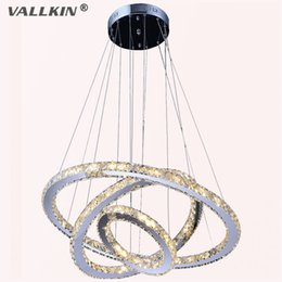 VALLKIN® DIY LED Pendant Light K9 Crystal Chandeliers Ceiling Lamps Indoor Pendant Lights Lighting Fixtures Home Deco for Dining Room Living