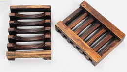 Wholesale Vintage Wooden Soap Dish Plate Tray Holder Box Case Shower Hand washing DHl LLFA