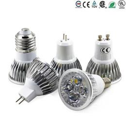 High Power Cree Led Light Bulbs E27 B22 MR16 9W 12W 15W Dimmable E14 GU5.3 GU10 Led Spot lights led downlight lamps