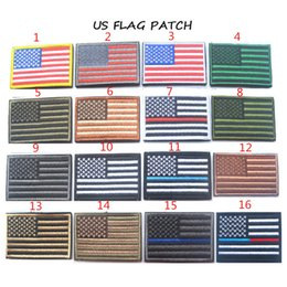 Wholesale Hot Mix Style Embroidery Armband American Flag left Shoulder Patch Velcro Shoulder Cloth Individual Morale Embroidery Armband
