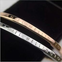 Wholesale 2016 new DW Bracelets Cuff Rose Gold Silver Bangle stainless steel Bracelet Women and Men Bracelet pulsera
