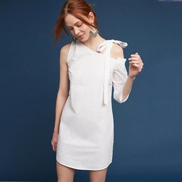 Casual Summer Dress Women 2017 Plus Size White Bandage Dress Off Shoulder Ropa Mujer Sexy Party Dresses Lace Moda Praia Fashion 50F0045