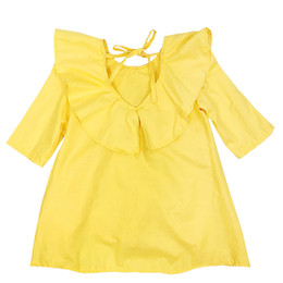 Kseniya Kids 2017 Spring New Girls Yellow Dress 2017 Brand Princess Dresses Kids Clothes For Girls Party Dress 3-10y
