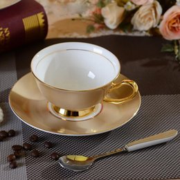 Bone China Teacups Coffee Cups & Saucers Sets with Spoons-10.2Oz,for Home,Restaurants,Holiday Gift for Family or Friends