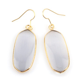 Wholesale Kendra Scott Long Earrings Drop K Gold Plated Natural Stone Earrings Charms Geometric Earrings Fashion Jewelry For Women