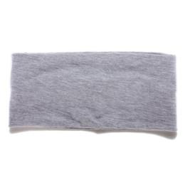 Vente en gros - Bonne affaire Femmes Wide Yoga Dance Sport Bandeau Stretch Hair Turban Turban élastique - gris à partir de offres sportives fabricateur
