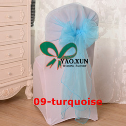 Wholesale Organza Chair Jacket \ Hood Chair Sash For Chair Cover Decoration
