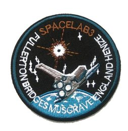 Wholesale NASA Space AB3 Badge Patches Embroidery Customize Logo Spacelab3 Patch SpaceLab Life iron ons Patches For Tshirt Jacket Hat