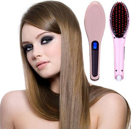 2017 New Hair Straightener Electric hot comb LCD Auto Temperature Control Hair straightening brush hair comb