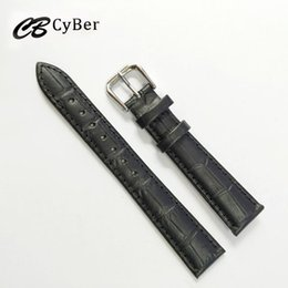 Cbcyber New watch bracelet belt black watchbands genuine leather strap watch band 16mm watch accessories wristband