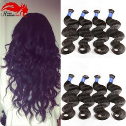 Hannah product Mixed Length Brazilian Hair For Braids 3Pcs Human Braiding Hair Bulk wet and wavy Brazilian Bulk Hair For Braiding