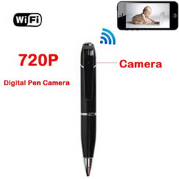 Las mini cámaras digitales en Línea-HD 720P WIFI cámara de la pluma del espía sin hilos H.264 mini cámara ocultada de la videocámara digital de la pluma del video grabador en caja al por menor