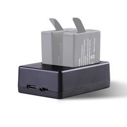 Usb gopro en Línea-Yaomeng cargador de batería dual con el cable del USB C del tipo para GoPro HERO5, HERO 5 negro