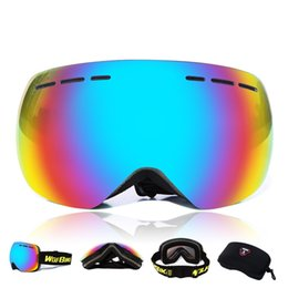 Skiing Goggles Myopia frame Sunglasses Prevent Particulates in Colorful Lens Double layer anti fog spherical wind proof mirror windproof
