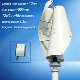 VAWT vertical wind power generator low noise horizontal yacht wind turbine 500w 12V 24VAC low free shipping by FeDex