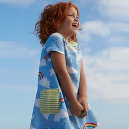 Wholesale mädchen kleid Summer Style Girl Dresses Design Princess Dress Cute Children Clothing Majolica Print Kids Dress