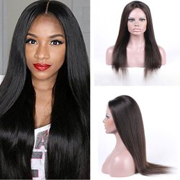 100% Virgin Human Hair Straight Full Lace Wigs Lace Front Wigs With Baby Hair Brazilian Human Wig For Black Women